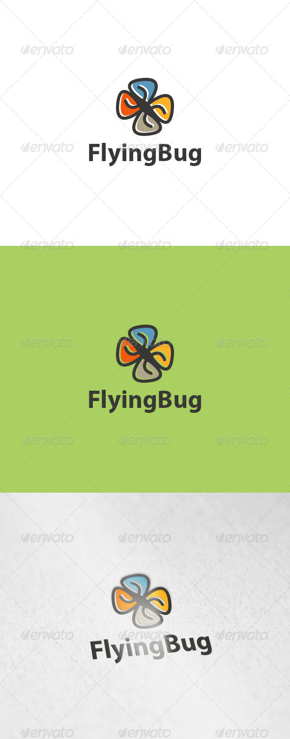 GraphicRiver Flying Bug Logo 6191331