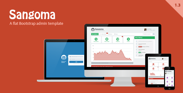 Sangoma Bootstrap Admin Template - The item page featured image.