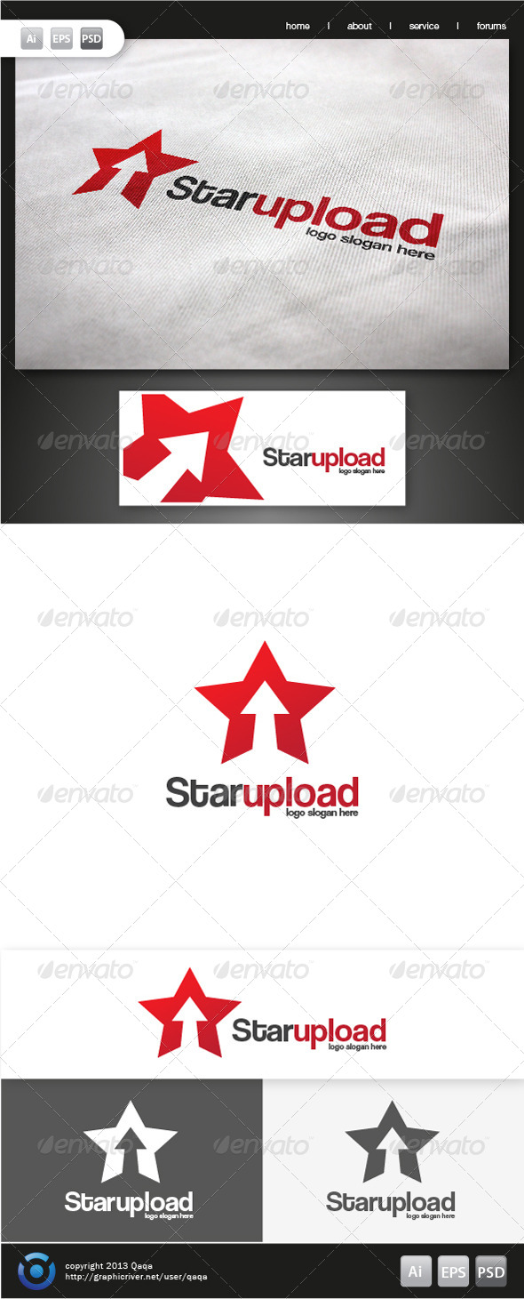 GraphicRiver Star Up Logo 6191426