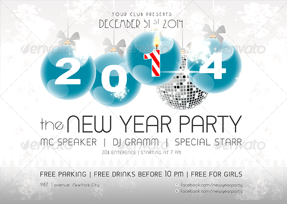 GraphicRiver 2014 New Year Party Flyer 6183120