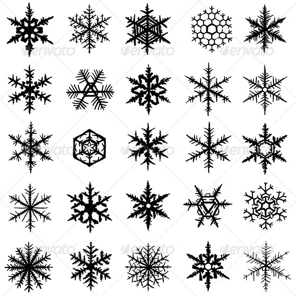 GraphicRiver Snowflake Set 6192572