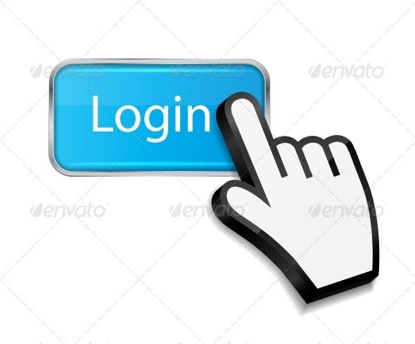 GraphicRiver Mouse Hand Cursor on Login Button 6192880