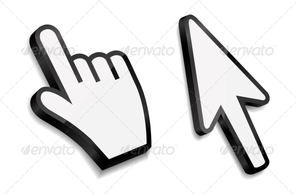 GraphicRiver Mouse Hand and Arrow Cursors 6193103