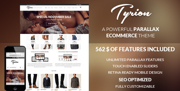 ThemeForest Tyrion Flexible Parallax e-Commerce Theme 6193222