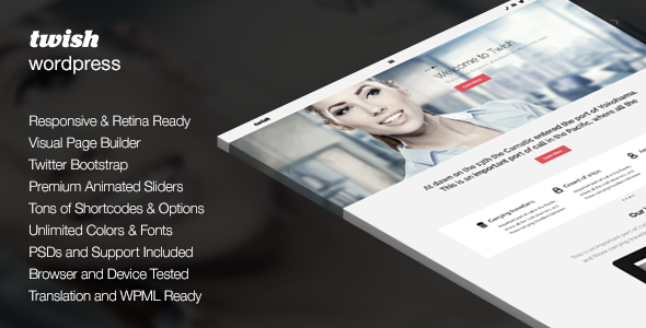 Twish | Responsive Multi-Purpose Theme - Corporate WordPress