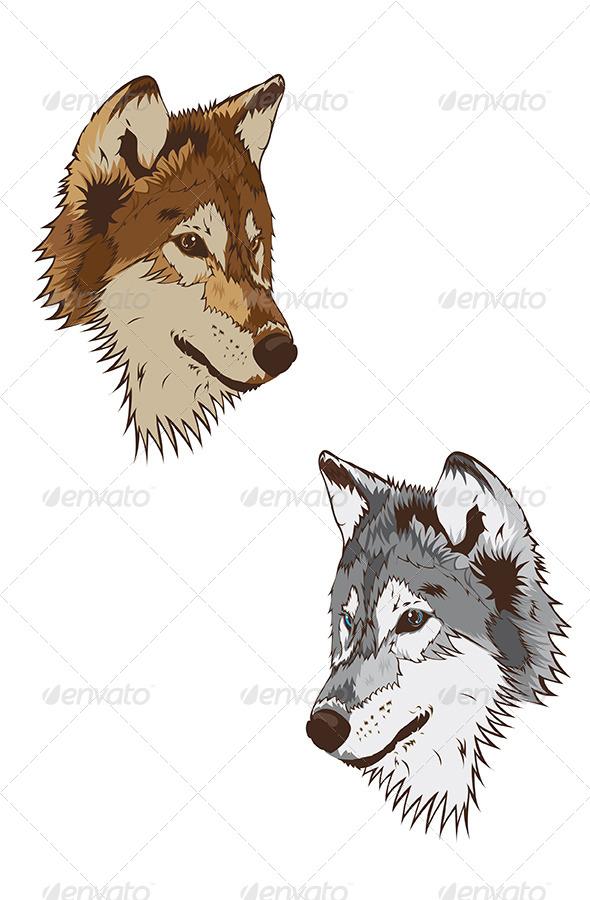 GraphicRiver Wolf Mascot 6193667