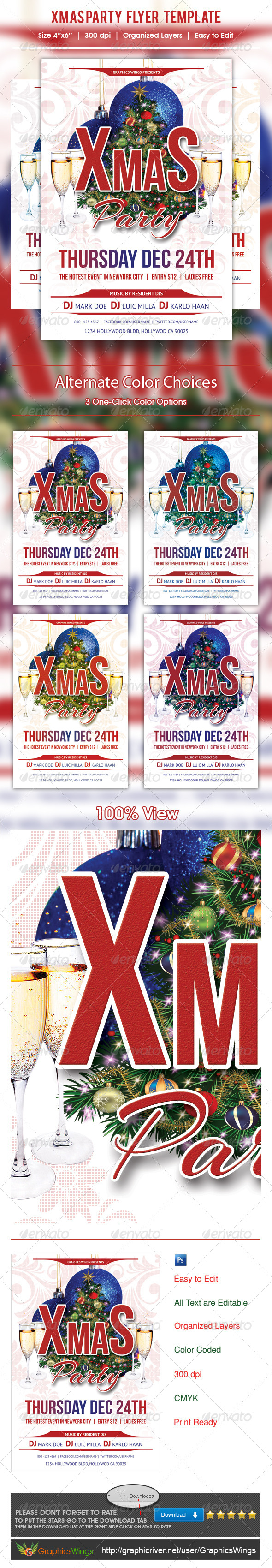 GraphicRiver Xmas Party Flyer Template 6194480