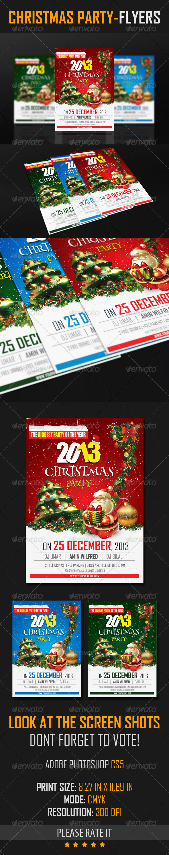 GraphicRiver Christmas Party Flyers 6157891