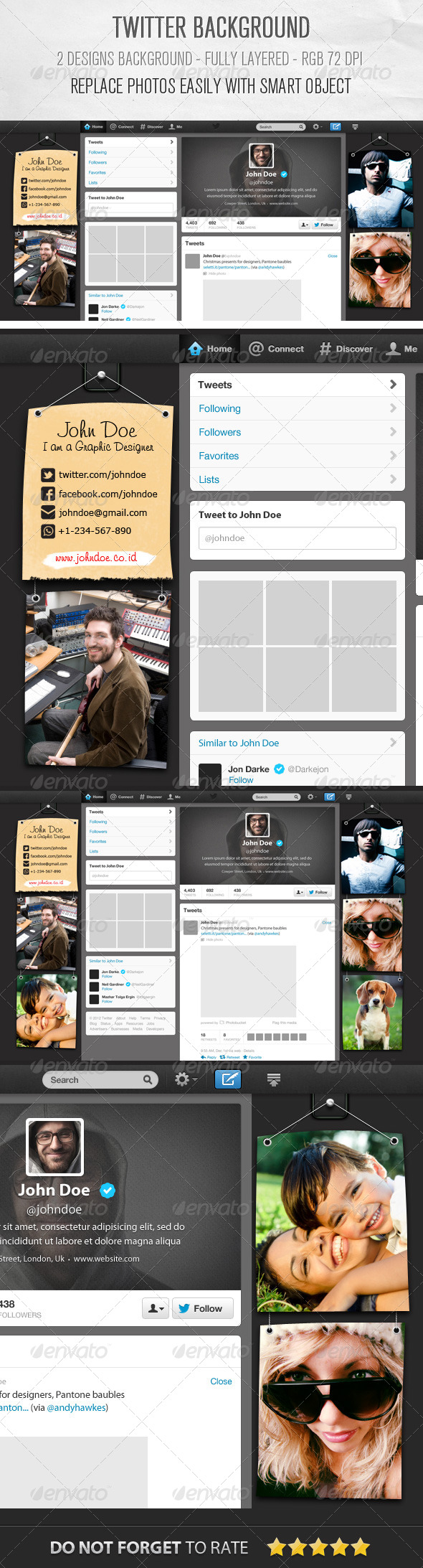 GraphicRiver Twitter Background Designs 6194798