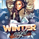 Winter Night Flyer - GraphicRiver Item for Sale