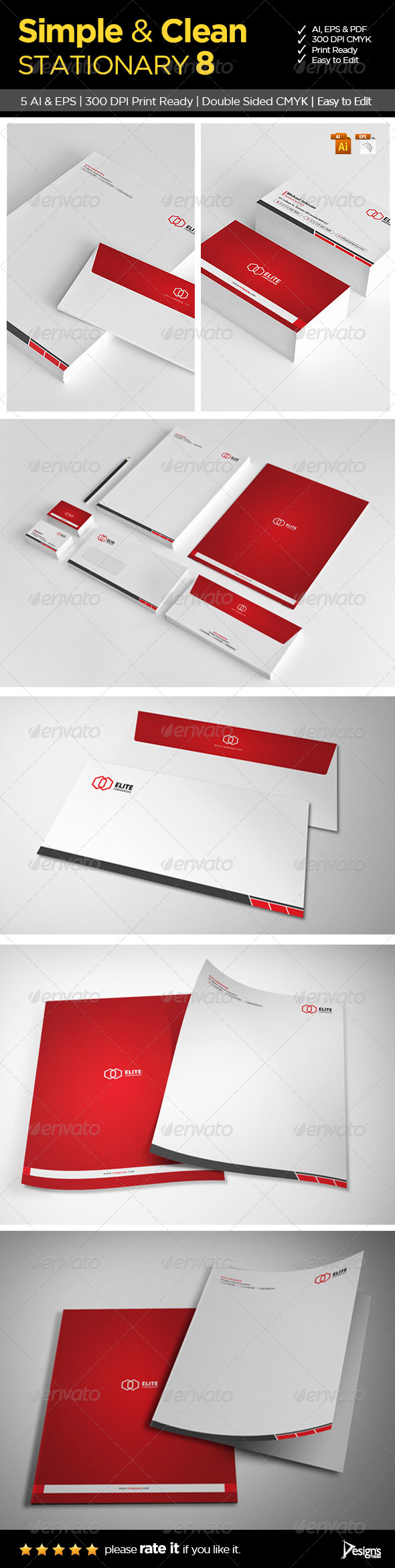 GraphicRiver Simple and Clean Stationary 8 6196261