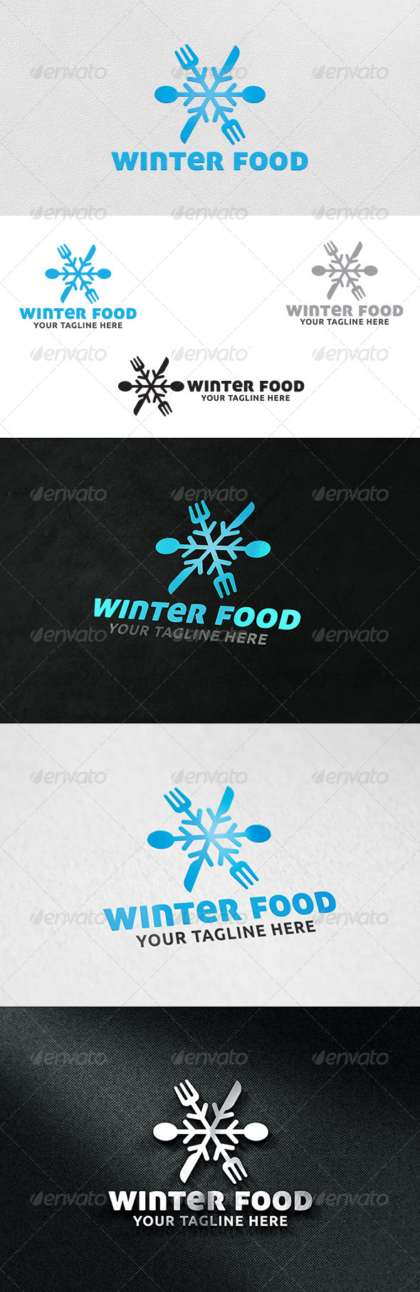 GraphicRiver Winter Food V2 Logo Template 6196888