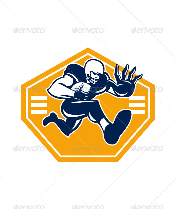 GraphicRiver American Football Running Back Stiff Arm 6197232