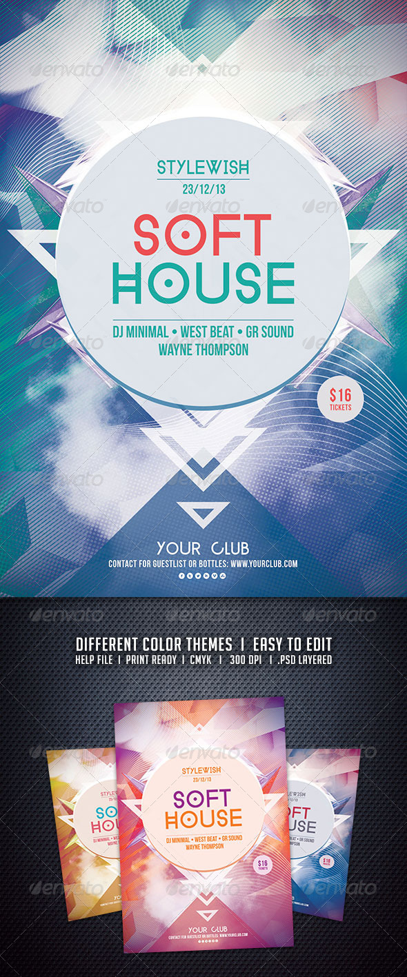 GraphicRiver Soft House Flyer 6197356