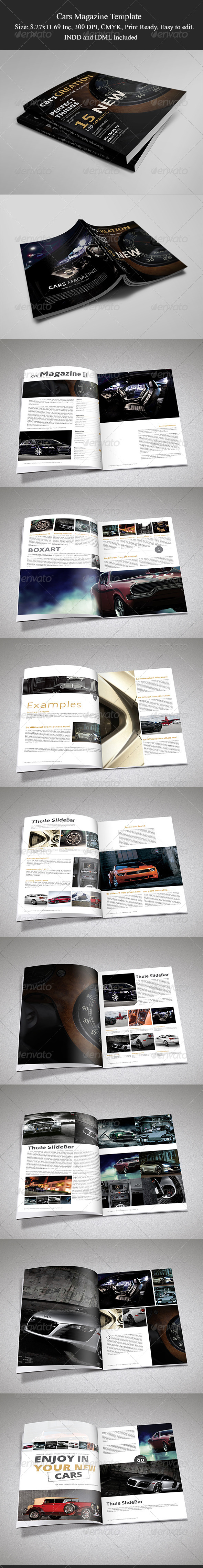 GraphicRiver Cars Magazine Template II 6193736