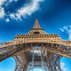 Terrific view of Eiffel Tower in winter season, Paris - PhotoDune Item for Sale