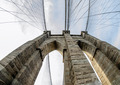 Fisheye view of Brooklyn Bridge Pylon in New York City - PhotoDune Item for Sale