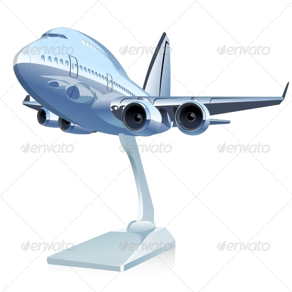 GraphicRiver Vector Cartoon Airliner 6198186