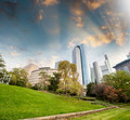 Beautiful city buildings from a green park - PhotoDune Item for Sale