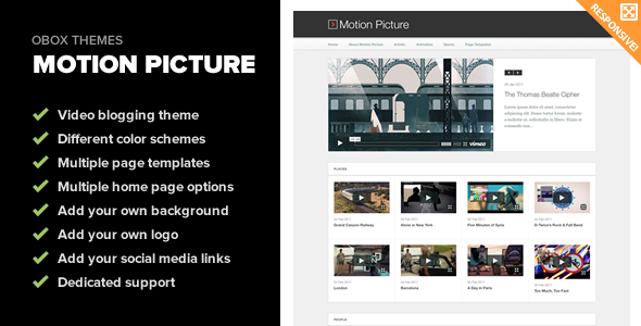 Motion Picture - Responsive WordPress Video Theme - Blog / Magazine WordPress