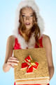 sexy christmas girl opening gift box - PhotoDune Item for Sale