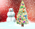 Snowman Christmas Red Backdrop - PhotoDune Item for Sale