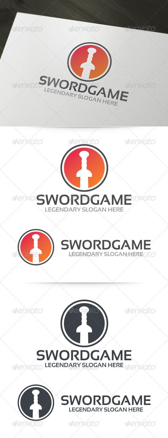 GraphicRiver Sword Game Logo 6199495