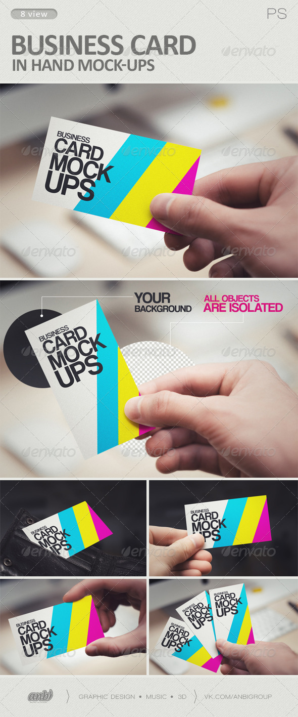 GraphicRiver Business Card in Hand Mock-Ups 6199666