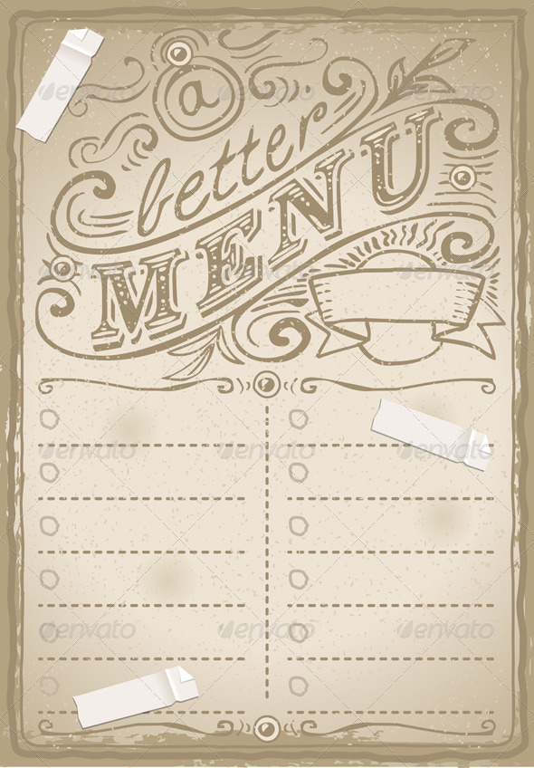 GraphicRiver Vintage Graphic Page for Restaurant 6200242