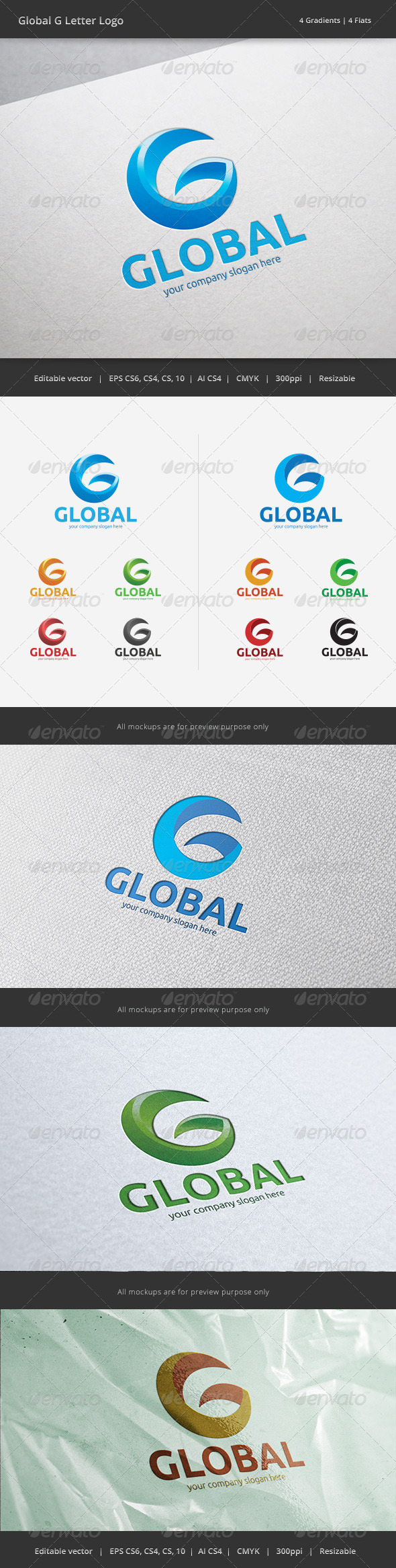 GraphicRiver Global G Letter Logo 6200303