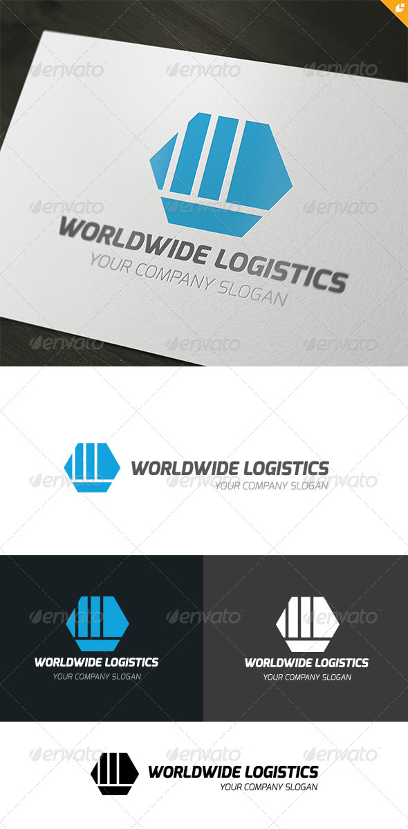 Worldwide Logistics - Objects Logo Templates