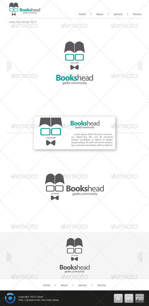 GraphicRiver Books Head Logo 6200475