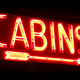 Old Vacation Cabins Rental Vintage Neon Sign Glow - PhotoDune Item for Sale