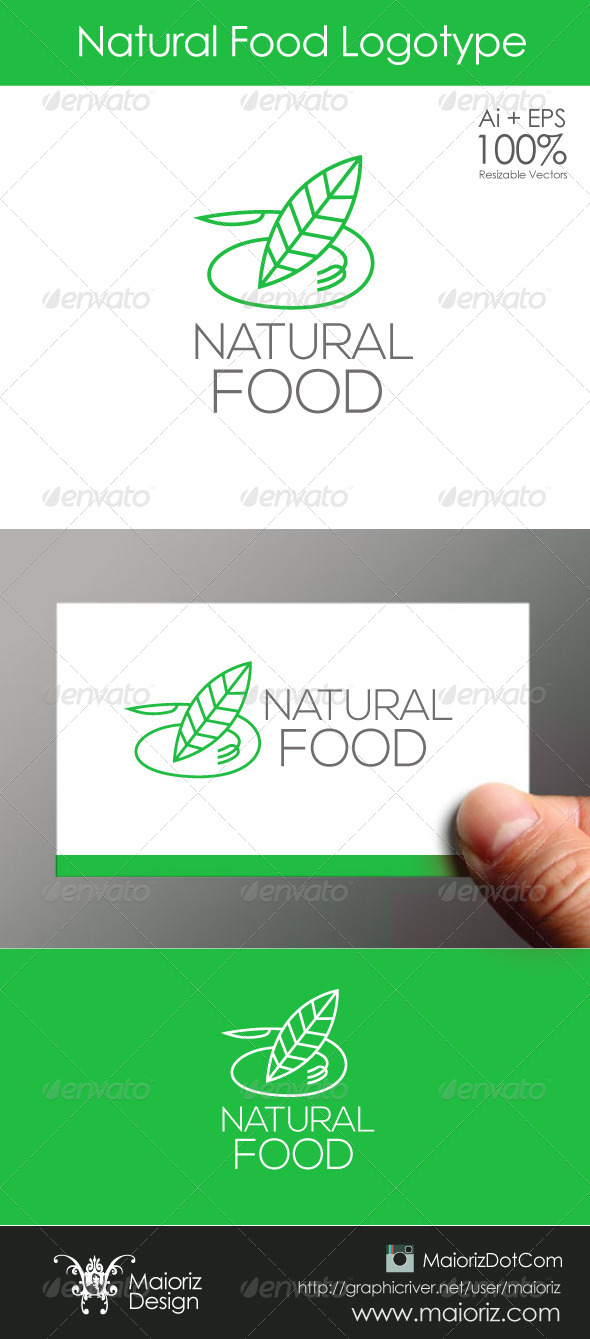 GraphicRiver Natural Food Logo 6201653