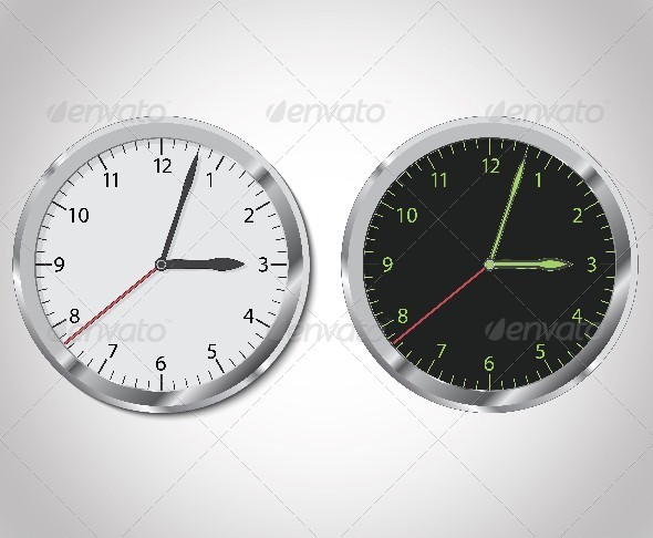 GraphicRiver Clock Illustration 6199425