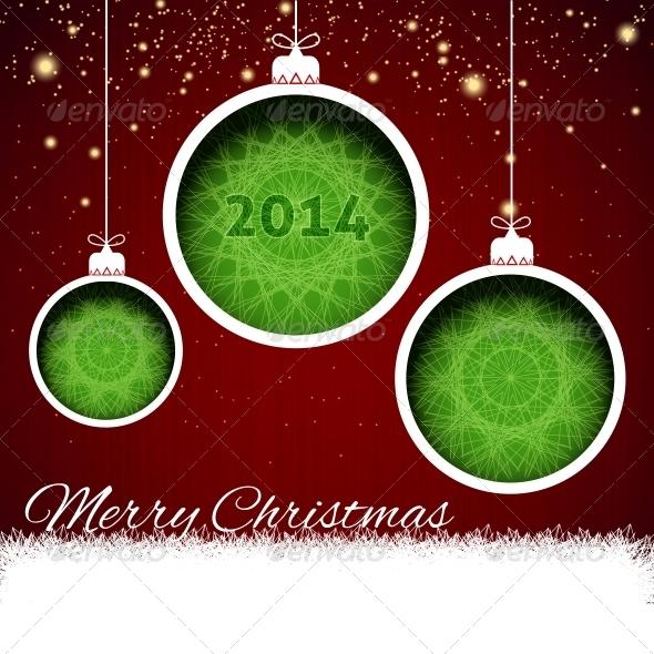GraphicRiver Merry Christmas Balls Paper 6201805