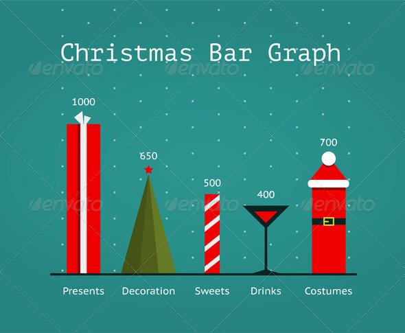 GraphicRiver Christmas Holiday Statistics Infographics Template 6201922