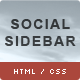 CSS3 Social Sidebar - CodeCanyon Item for Sale