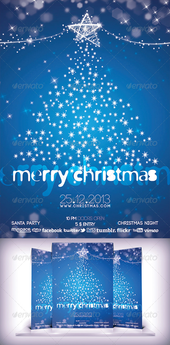 GraphicRiver Merry Christmas Party Flyer 6202795