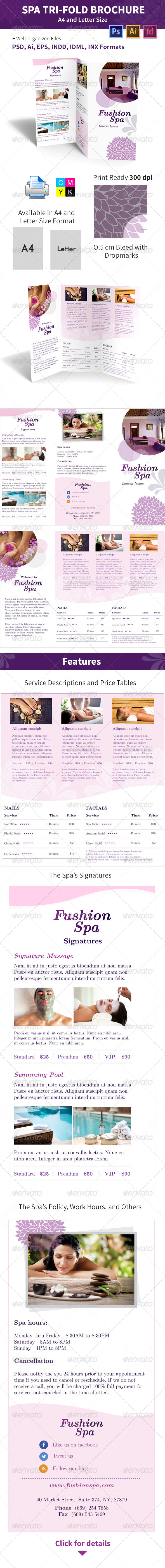 GraphicRiver Spa Trifold Brochure A4 and Letter Sizes 6202812