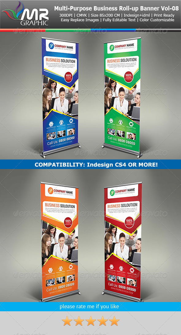 GraphicRiver Multipurpose Business Roll-Up Banner Vol-08 6203894