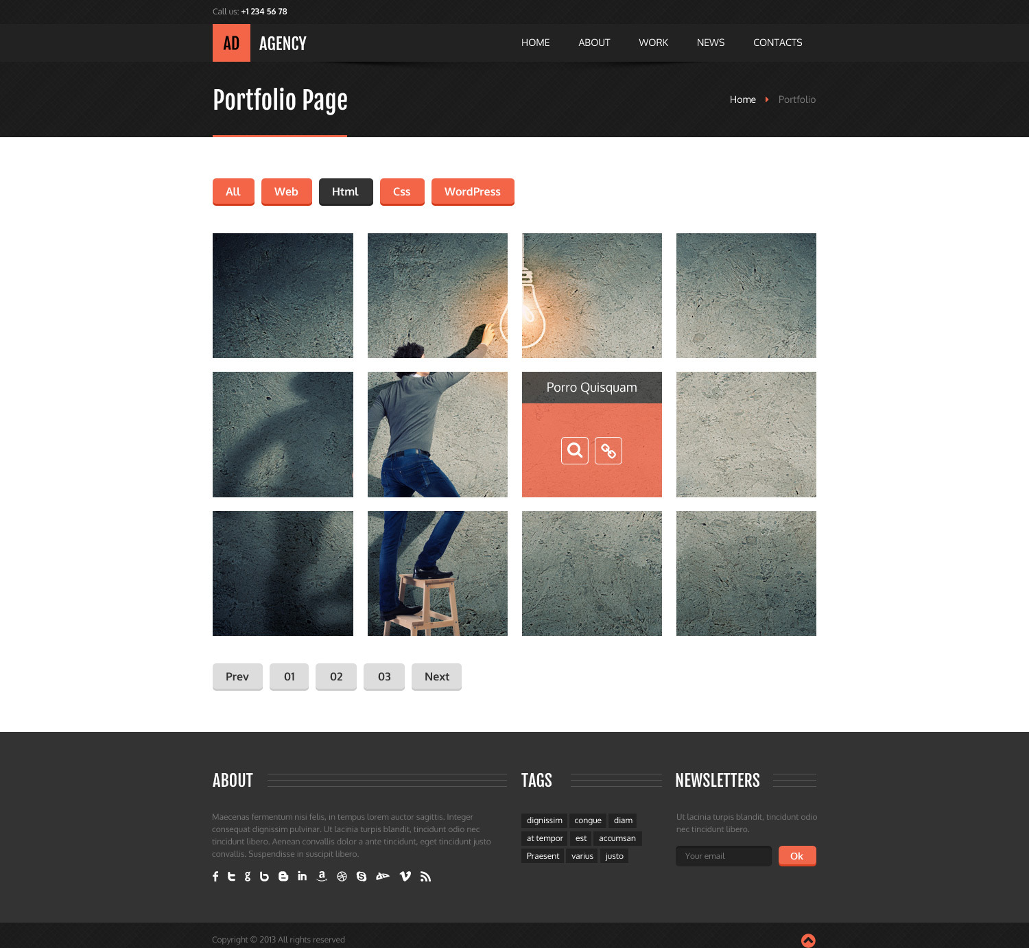 AdAgency HTML Template