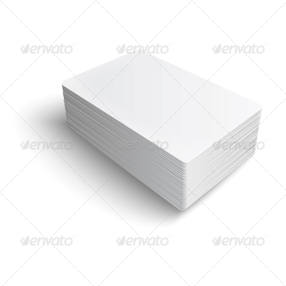 GraphicRiver Stack of Blank Business Cards 6205927
