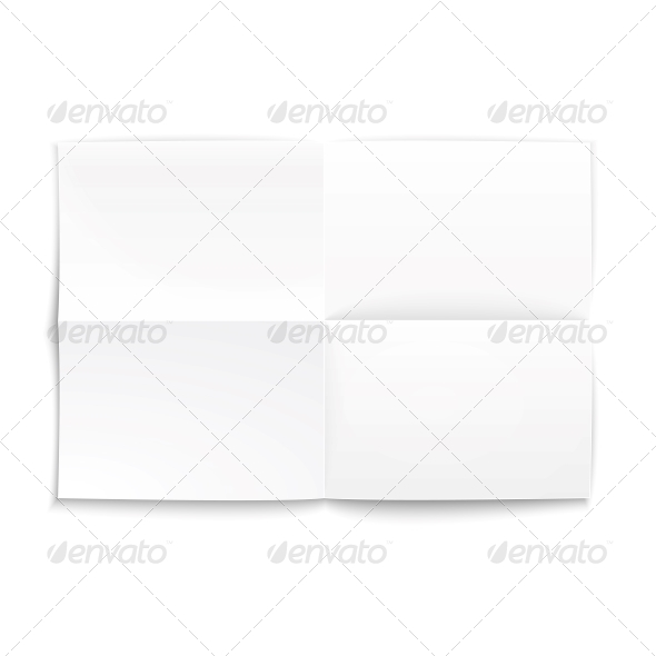 GraphicRiver Folded Paper with Soft Shadows 6205936