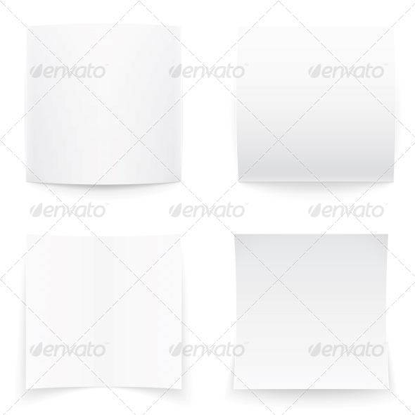 GraphicRiver Paper Banners on White Background Soft Shadows 6205970