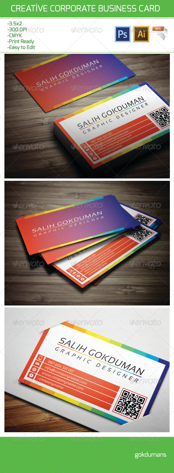 GraphicRiver Corporate Business Card 18 6206017