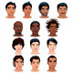 Indian, Black, Asian and Latino Men - GraphicRiver Item for Sale