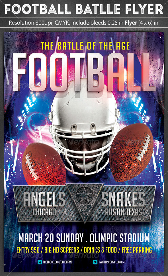 GraphicRiver Football Battle Flyer 6206385