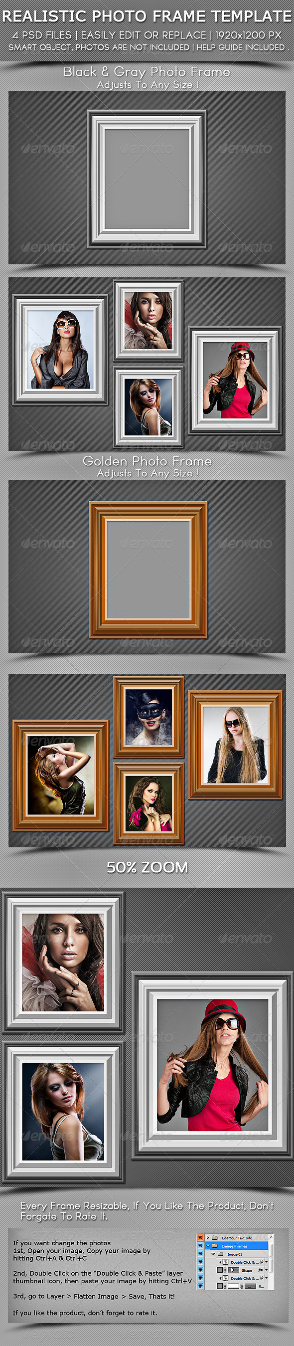 GraphicRiver Realestic Photo Fram Template 6206448