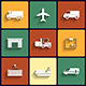 Vehicle Transport and Logistics Flat Icons - GraphicRiver Item for Sale